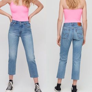 NWT Levi's Wedgie Straight High-Waisted Med Denim